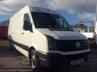 USED 2015 65 VOLKSWAGEN CRAFTER LWB 2.0 CR35 TDI H/R P/V 135 BHP  AIR CON BLUETOOTH 1 OWNER FSH MANUFACTURER'S WARRANTY AIR CONDITIONING SATELLITE NAVIGATION ELECTRIC WINDOWS AND MIRRORS 6 SPEED MULTI FUNCTIONAL STEERING WHEEL BLUETOOTH