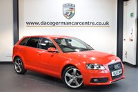 USED 2012 12 AUDI A3 2.0 SPORTBACK TDI S LINE SPECIAL EDITION 5DR 138 BHP + HALF BLACK LEATHER INTERIOR + AUDI SERVICE HISTORY + TELEPHONE EQUIPMENT + SPORT SEATS + CRUISE CONTROL + HEATED MIRRORS + PARKING SENSORS + 18 INCH ALLOY WHEELS +