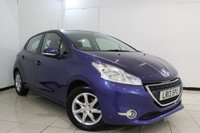 USED 2013 13 PEUGEOT 208 1.2 ACTIVE 5DR 82 BHP BLUETOOTH + CRUISE CONTROL + MULTI FUNCTION WHEEL + AIR CONDITIONING + 15 INCH ALLOY WHEELS