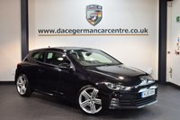 USED 2015 15 VOLKSWAGEN SCIROCCO 2.0 R LINE TDI BLUEMOTION TECHNOLOGY DSG 2DR AUTO 182 BHP + FULL BLACK LEATHER INTERIOR + FULL VW SERVICE HISTORY + SATELLITE NAVIGATION + BLUETOOTH + HEATED SPORT SEATS + DAB RADIO + CRUISE CONTROL + AUX/USB PORT + HEATED MIRRORS + PARKING SENSORS + 18 INCH ALLOY WHEELS +