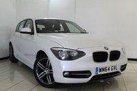 USED 2015 64 BMW 1 SERIES 2.0 116D SPORT 5DR AUTOMATIC 114 BHP SERVICE HISTORY + BLUETOOTH + MULTI FUNCTION WHEEL + CLIMATE CONTROL + 17 INCH ALLOY WHEELS