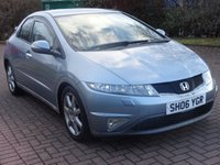 USED 2006 06 HONDA CIVIC 2.2 SPORT I-CTDI 5d 139 BHP PARKING SENSORS ++  FULL YEAR MOT ++   SERVICE RECORD++  CLIMATE CONTROL ++