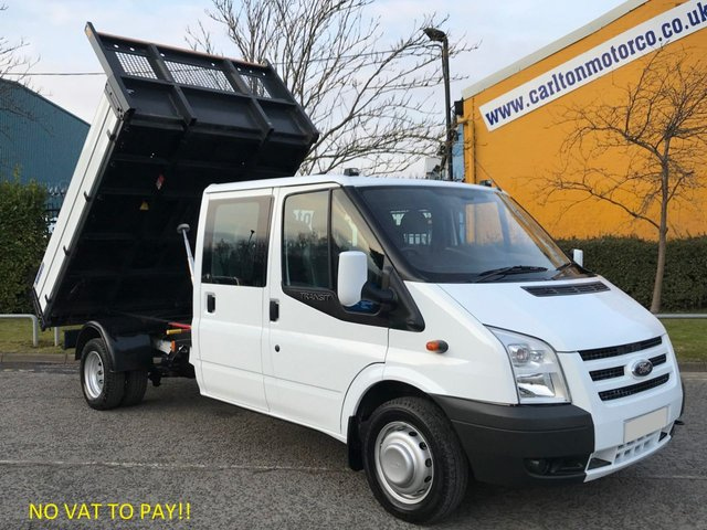 2012 12 FORD TRANSIT 2.4 115 T350 D/CAB TIPPER # LOOK NO VAT TO PAY # ALLOY BODY LOW MILES DRW