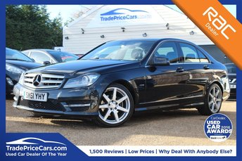 2012 MERCEDES-BENZ C CLASS 1.8 C180 BLUEEFFICIENCY SPORT EDITION 125 4d AUTO 156 BHP £10950.00