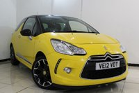 USED 2012 12 CITROEN DS3 1.6 E-HDI DSTYLE PLUS 3DR 90 BHP FULL SERVICE HISTORY + CRUISE CONTROL + PARKING SENSOR + AUXILIARY PORT + AIR CONDITIONING + 17 INCH ALLOY WHEELS