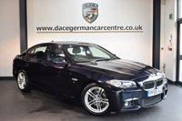 USED 2015 65 BMW 5 SERIES 2.0 520D M SPORT 4DR AUTO 188 BHP + FULL BLACK LEATHER INTERIOR + SATELLITE NAVIGATION + HEATED SPORT SEATS + BLUETOOTH + DAB RADIO + PARKING SENSORS + 18 INCH ALLOY WHEELS +