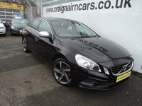 USED 2012 62 VOLVO S60 2.0 D3 R-DESIGN 4d 134 BHP Two Owners 58000 Miles Full History+Bluetooth+Leather