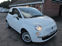 2014 FIAT 500 1.2 LOUNGE 3 dr £6190.00