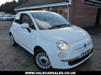USED 2014 14 FIAT 500 1.2 LOUNGE 3 dr FULL FIAT HISTORY / 4 FIAT SERVICES / £30 TAX