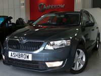USED 2015 65 SKODA OCTAVIA ESTATE 2.0 TDI SE BUSINESS 5d 150 S/S SAT NAV, DAB RADIO, BLUETOOTH PHONE & AUDIO STREAMING, PARK ASSIST WITH AUTOMATIC STEERING, FRONT & REAR PARKING SENSORS WITH DISPLAY (PARK PILOT), AUX + USB INPUTS FOR IPOD / MP3, CRUISE CONTROL, DRIVING MODE SELECTION, VOICE COMMAND, LEATHER MULTI FUNCTION STEERING WHEEL, DUAL ZONE CLIMATE A/C, 1 OWNER FROM NEW, FULL SERVICE HISTORY, BALANCE OF MANUFACTURERS WARRANTY, £20 ROAD TAX (106 G/KM)