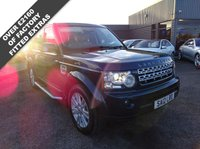 USED 2012 12 LAND ROVER DISCOVERY 3.0 4 SDV6 XS 5d AUTO 255 BHP V5 doc showing 2 previous keepers, service book with 4 stamps, 2 main dealership stamps done at 17,371 & 35,269 miles and 2 others done at 47,874 & 60,379miles with last service done Dec 2018. 2 keys (spare not tested)and manual pack