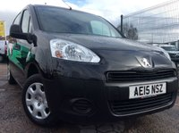 USED 2015 15 PEUGEOT PARTNER 1.6 HDI PROFESSIONAL L1 850 89 BHP 1 OWNER FSH MANUFACTURER'S WARRANTY AIR CONDITIONING ELECTRIC WINDOWS AND MIRRORS 3 SEATS SPARE KEY