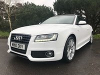 USED 2010 10 AUDI A5 1.8 TFSI S LINE 2d AUTO 158 BHP GREAT LOOKING A5 S LINE CONVERTIBLE IN WHITE WITH FSH