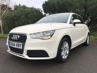 USED 2014 64 AUDI A1 1.6 SPORTBACK TDI SE 5d 105 BHP ONE OWNER 5 DOOR A1 WITH FSH IN WHITE