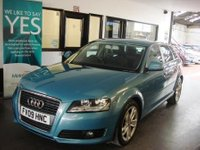 USED 2009 09 AUDI A3 2.0 TDI SPORT 5d 138 BHP Three owners, full Audi service history- 8 stamps. April 2019 Mot- advisory free. Finished in KIngfisher Blue