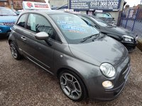 USED 2012 12 FIAT 500 0.9 TWINAIR 3d 85 BHP ELECTRIC SUNROOF, ALLOY WHEELS, 1/2 LEATHER INTERIOR, F.S.H