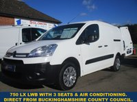 2014 CITROEN BERLINGO 750LX LWB WITH AIR-CON FROM BUCKINGHAMSHIRE COUNCIL £5995.00