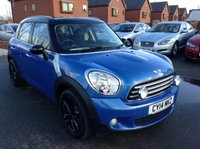 USED 2014 14 MINI COUNTRYMAN 1.6 COOPER D 5d 112 BHP Full service history,   Chilli pack,      Part-leather upholstery,      Bluetooth,      Rear parking sensors