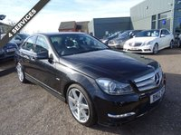 2012 MERCEDES-BENZ C CLASS 2.1 C220 CDI BLUEEFFICIENCY SPORT 4d AUTO 168 BHP £11990.00