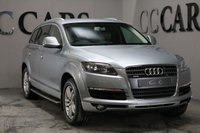 USED 2007 07 AUDI Q7 3.0 TDI QUATTRO SE 5d 234 BHP FULL GREY HEATED LEATHER SEATS, BOSE PREMIUM SOUND, ELECTRIC REMOTE POWER TAILGATE, FRONT AND REAR PARK DISTANCE CONTROL, LEATHER MULTI FUNCTION STEERING WHEEL, SIDE STEPS, 19 INCH SPLIT FIVE SPOKE ALLOY WHEELS, 7 SEATS, SUN PROTECTION GLASS, ALUMINIUM ROOF RAILS, DUAL ZONE CLIMATE CONTROL, CRUISE CONTROL,HEATED ELECTRIC MIRRORS