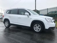 2012 CHEVROLET ORLANDO 2.0 LT VCDI 5d AUTO 163 BHP 7 seats 52000 miles white very clean example  £6495.00