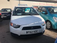 USED 2012 62 MITSUBISHI COLT 1.1 CZ1 3d 75 BHP 2 KEEPERS, MAIN DEALER S/HISTORY!