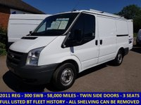USED 2011 FORD TRANSIT 300s SWB DIRECT FROM BT FLEET WITH FULL HISTORY