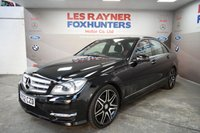 USED 2012 62 MERCEDES-BENZ C CLASS 2.1 C220 CDI BLUEEFFICIENCY AMG SPORT PLUS 4d 168 BHP Xenons, Bluetooth, Front and Rear park sensors, Cruise control, Half Leather seats