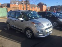 USED 2013 63 CITROEN C3 PICASSO 1.6 PICASSO EXCLUSIVE EGS 5d AUTO 120 BHP AUTOMATIC WITH AIR CONDITIONING AND ALLOY WHEELS!!..EXCELLENT FUEL ECONOMY!..LOW CO2 EMISSIONS(137G/KM)..LOW ROAD TAX...FULL HISTORY..ONLY 18891 MILES FROM NEW!!