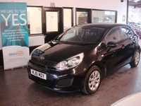 USED 2011 61 KIA RIO 1.2 1 5d 83 BHP Finished in Black with Black cloth seats. Fitted with Bluetooth and CD Stereo with Aux & Usb port.