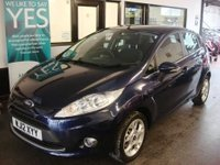 USED 2012 12 FORD FIESTA 1.4 ZETEC 16V 5d AUTO 96 BHP Two lady owners from new, service history. December 2018 Mot. Finished in Metallic Ink Blue