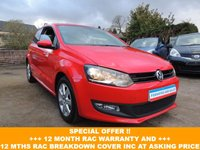 2013 VOLKSWAGEN POLO 1.2 MATCH EDITION TDI 3d 74 BHP £6100.00