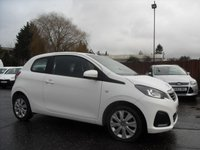 USED 2015 15 PEUGEOT 108 1.0 ACTIVE 3d ZERO ROAD TAX AND LOW INSURANCE  NO DEPOSIT  FINANCE ARRANGED, APPLY HERE NOW