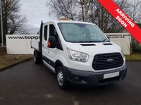 2014 FORD TRANSIT 350 2.2 125 BHP DROPSIDE 14 FT **70 VANS IN STOCK** £14995.00