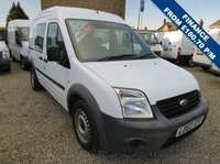 USED 2012 62 FORD TRANSIT CONNECT 90T 230 1.8TDCi LWB CREWCAB VAN ONE OWNER - FDSH - ONLY 30,000m