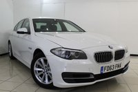 USED 2014 63 BMW 5 SERIES 2.0 520D SE 4DR AUTOMATIC 181 BHP SERVICE HISTORY + HEATED LEATHER SEATS + SAT NAVIGATION + PARKING SENSOR + BLUETOOTH + CRUISE CONTROL + MULTI FUNCTION WHEEL + 17 INCH ALLOY WHEELS