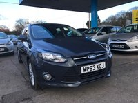 USED 2013 63 FORD FOCUS 1.0 ZETEC NAVIGATOR 5d 124 BHP NEED FINANCE? WE STRIVE FOR 94% ACCEPTANCE