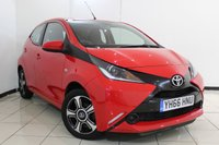 USED 2016 66 TOYOTA AYGO 1.0 VVT-I X-PLAY 5DR 69 BHP FULL SERVICE HISTORY + REVERSE CAMERA + BLUETOOTH + CRUISE CONTROL + MULTI FUNCTION WHEEL + 15 INCH ALLOY WHEELS