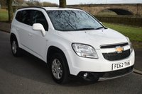 2012 CHEVROLET ORLANDO 1.8 LT 5d 141 BHP 7 SEAT FAMILY ESTATE £7450.00