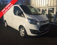 USED 2015 65 FORD TRANSIT CUSTOM 2.2 270 LIMITED L1 SWB 124 BHP EXCELLENT CONDITION VAN WITH LOADS OF SPEC WHICH WE HAVE OWNED SINCE NEW FOR JUST COLLECTING CUSTOMERS.