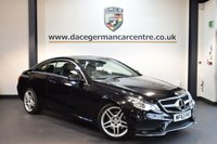 USED 2013 63 MERCEDES-BENZ E CLASS 2.1 E220 CDI AMG SPORT 2DR AUTO 170 BHP + FULL BLACK LEATHER INTERIOR + EXCELLENT SERVICE HISTORY + SATELLITE NAVIGATION + HEATED SPORT SEATS + BLUETOOTH + DAB RADIO + CRUISE CONTROL + ACTIVE PARK ASSIST + 18 INCH ALLOY WHEELS +