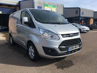 2014 FORD TRANSIT CUSTOM 2.2 290 LIMITED LR P/V 1d 124 BHP £9395.00