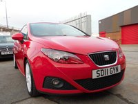 2011 SEAT IBIZA 1.4 CHILL 3d 85 BHP £SOLD