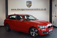 USED 2015 15 BMW 1 SERIES 1.6 116I SPORT 5DR 135 BHP + FULL BMW SERVICE HISTORY + 1 OWNER FROM NEW + BLUETOOTH + SPORT SEATS + DAB RADIO + RAIN SENSORS + CRUISE CONTROL + PARKING SENSORS + 17 INCH ALLOY WHEELS +