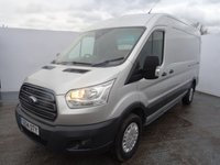 USED 2014 14 FORD TRANSIT 2.2 350 TREND SHR P/V 1d 124 BHP amazing value for money metallic silver with 3 seater cab