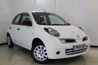 USED 2010 10 NISSAN MICRA 1.2 VISIA 5DR 80 BHP AIR CONDITIONING + AUXILIARY PORT + RADIO/CD + ELECTRIC WINDOWS