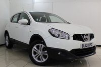 USED 2012 12 NISSAN QASHQAI 1.6 ACENTA 5DR 117 BHP FULL SERVICE HISTORY + BLUETOOTH + PARKING SENSOR + CRUISE CONTROL + MULTI FUNCTION WHEEL + CLIMATE CONTROL + 17 INCH ALLOY WHEELS