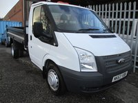 2013 FORD TRANSIT 350 Single Cab Steel Tipper 100 PS *Only 23000 miles* £12995.00
