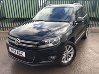 2013 VOLKSWAGEN TIGUAN 2.0 SE TDI BLUEMOTION TECHNOLOGY 4MOTION 5d 138 BHP ONE OWNER FSH £9990.00