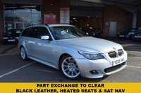 USED 2008 08 BMW 5 SERIES 3.0 525D M SPORT TOURING 5d 195 BHP PART EXCHANGE TO CLEAR, SORRY NO  AA INSPECTION OR WARRANTY WITH THIS CAR. HPI CLEAR, 12 SERVICE STAMPS.